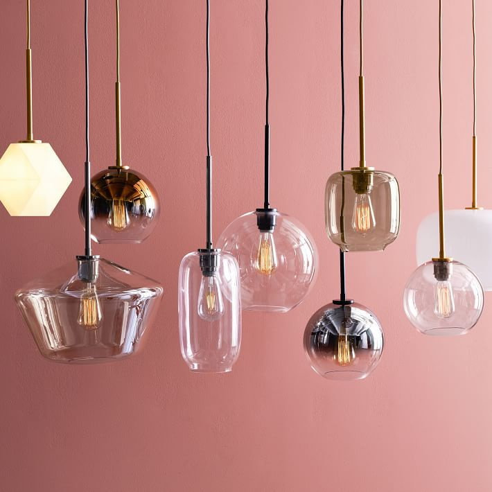 A collection of pendant lights you can buy at West Elm