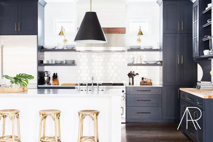 cocina con azulejos de metro