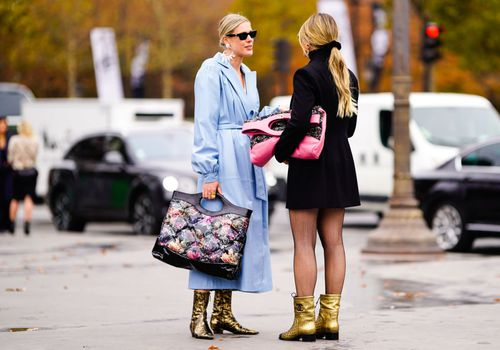 Friends Talking During Fashion Week