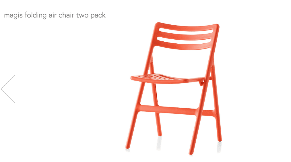 magis folding chair