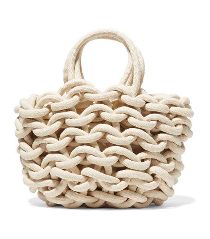 Woven Cotton Bucket Bag