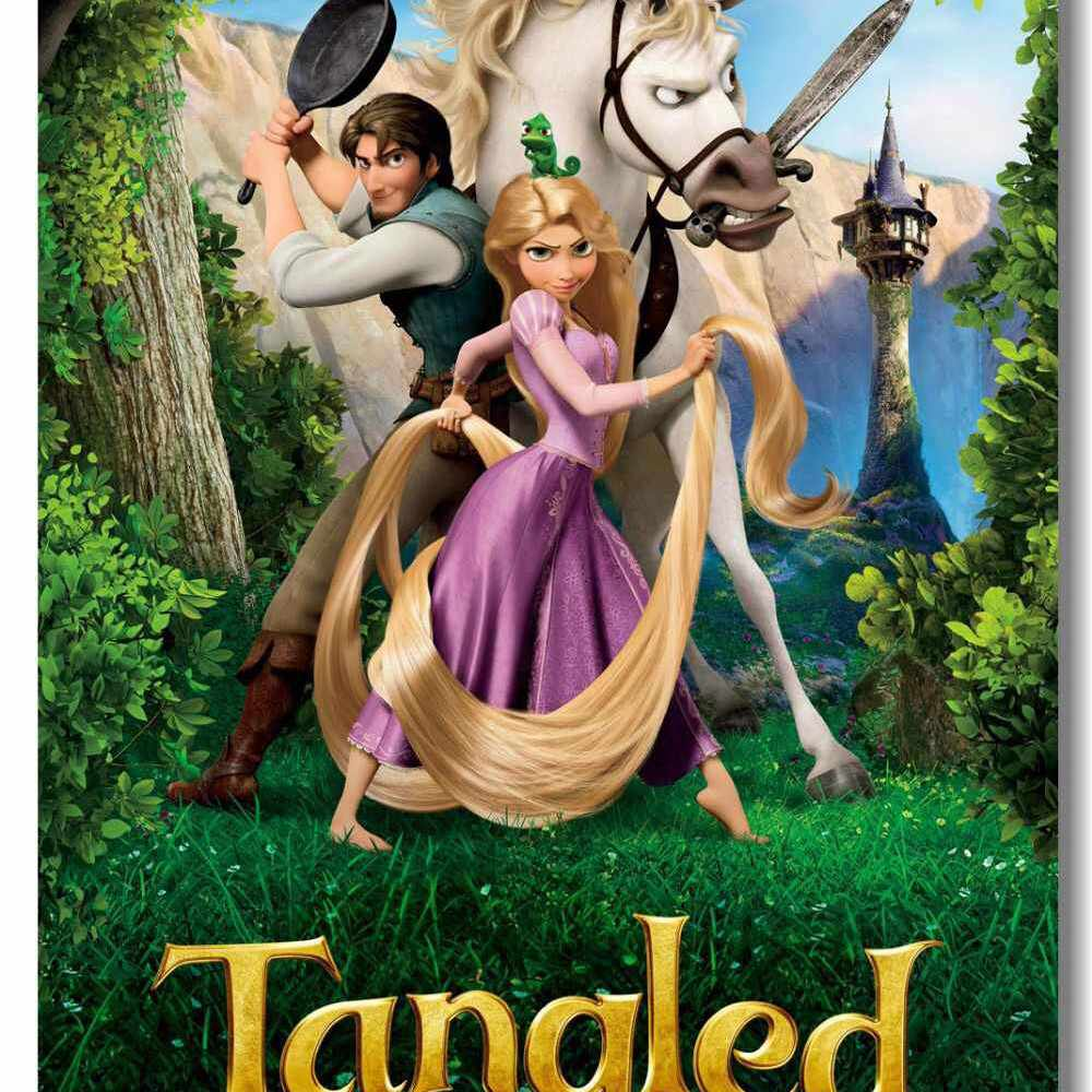 Tangled movie poster.