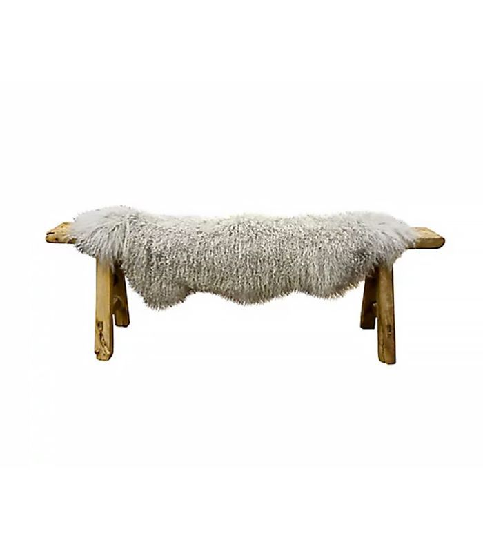 One Kings Lane — Sheepskin Bench