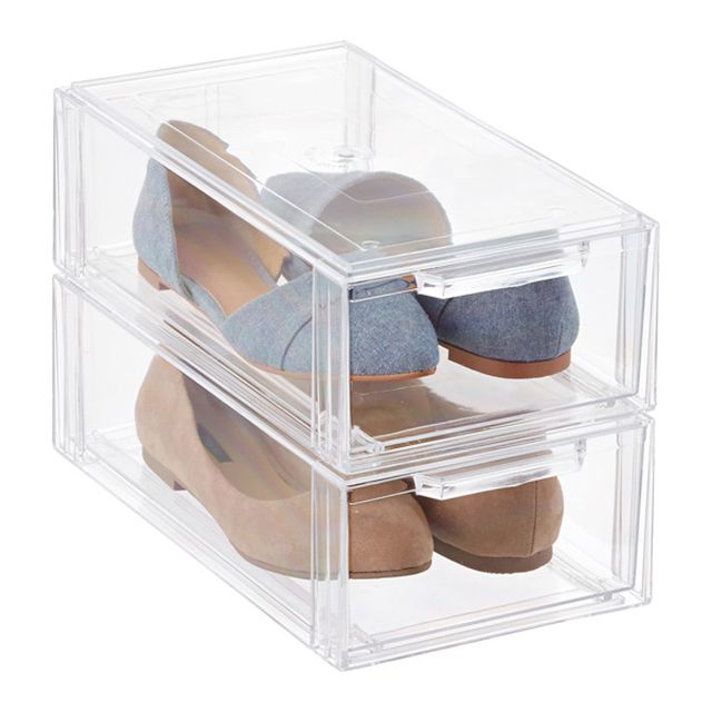 Container Store Clear Stackable Small Shoe Drawer