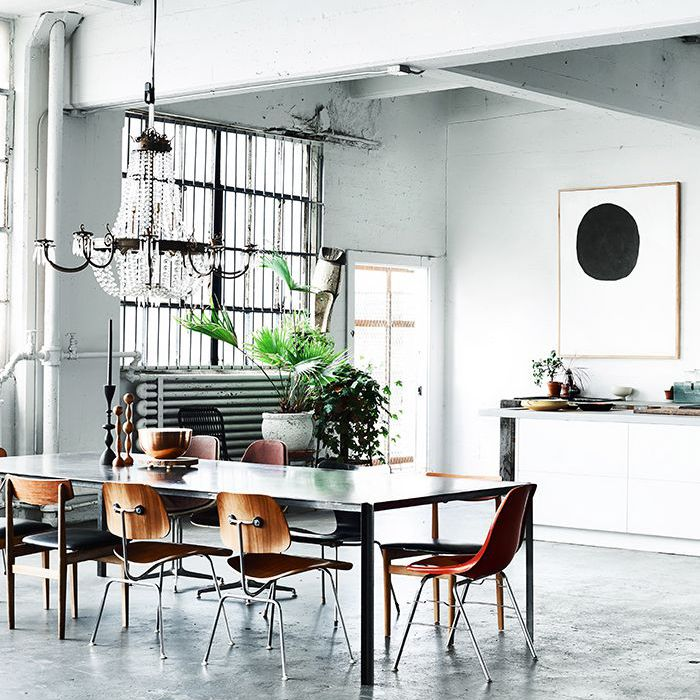 kitchen with industrial house design