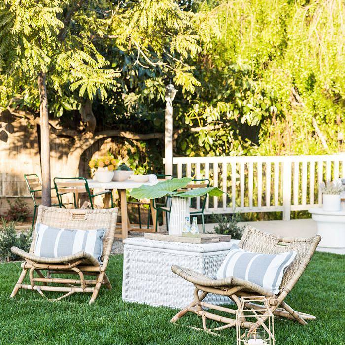 backyard with lounge chairs