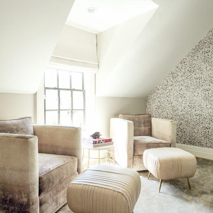 Sala de estar con una mezcla de texturas.