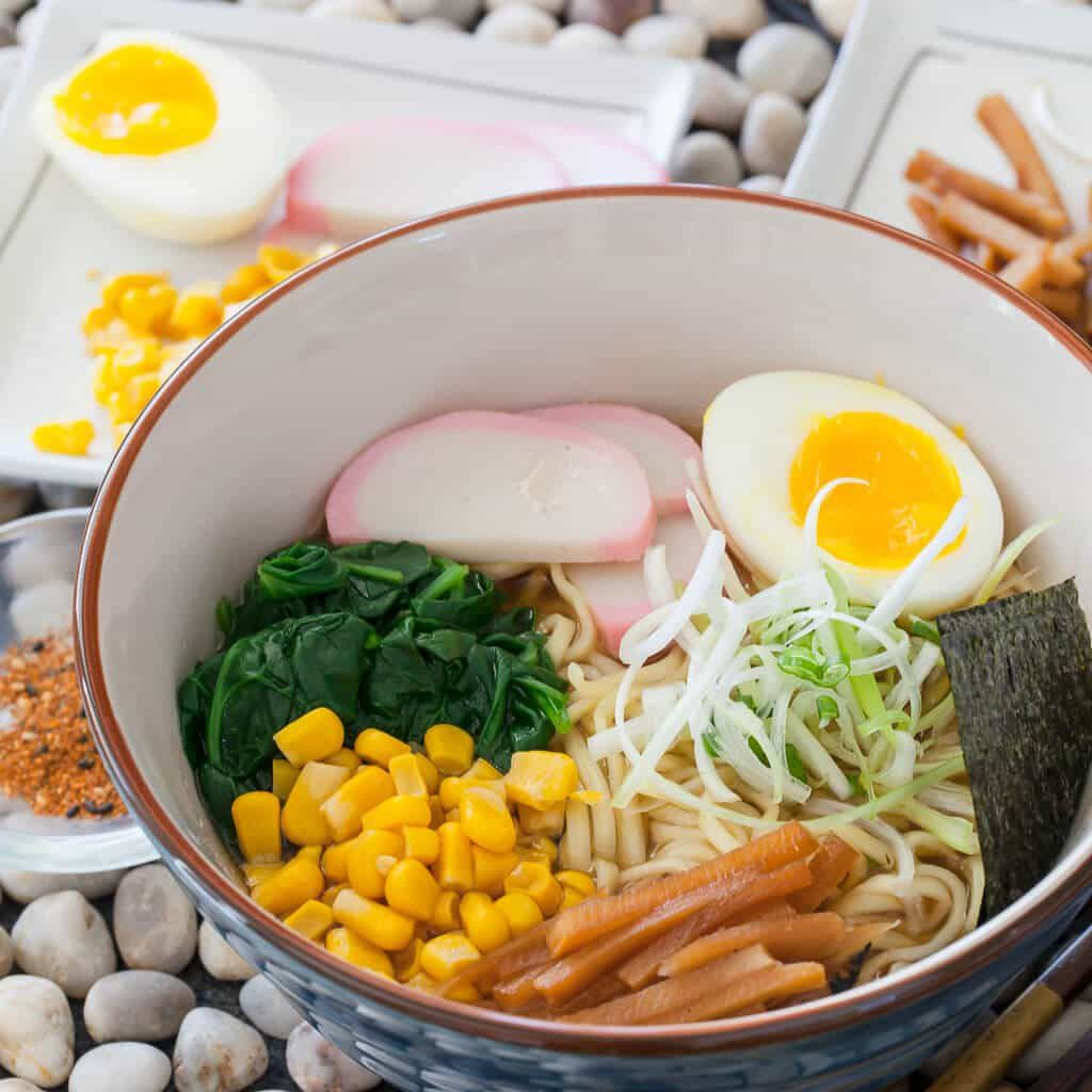 15 Minute Miso Ramen Recipe with seaweed by Steamy Kitchen