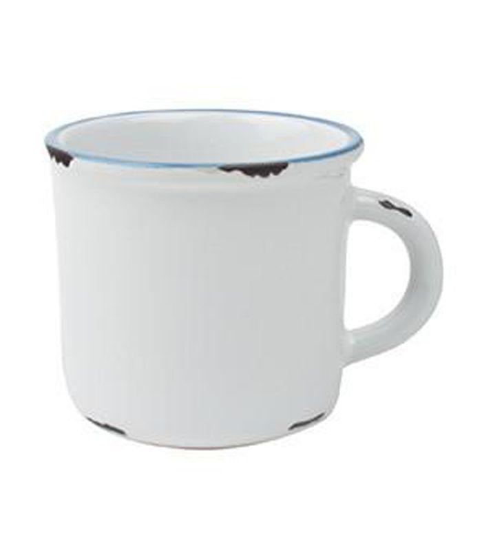 Canvas Home Tinware Espresso Mug in White, Set of 4