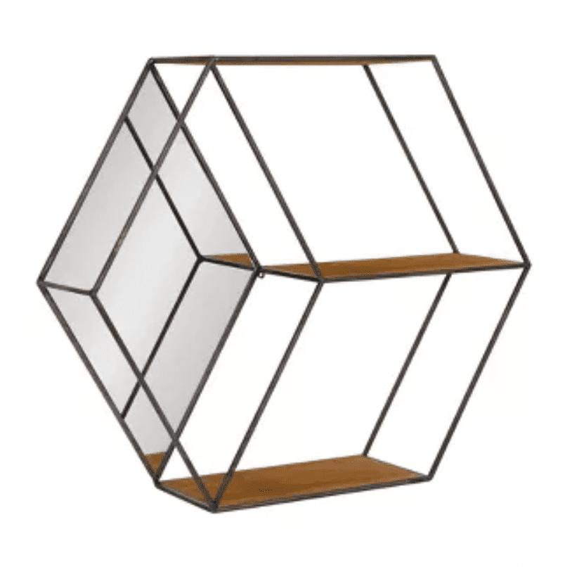 Lintz hexagon shelves with mirror