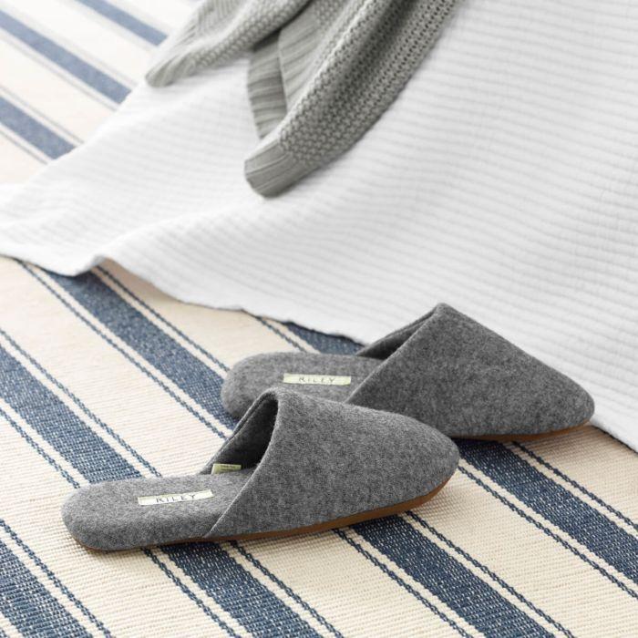 Wool-Blend Slippers