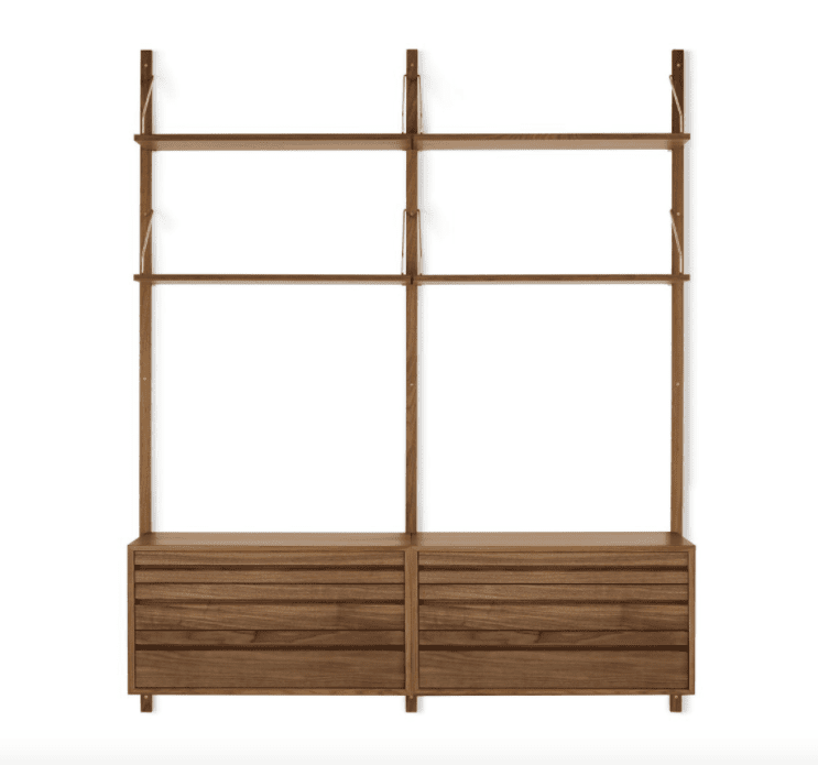 Royal System Shelving Unit B with Drawers