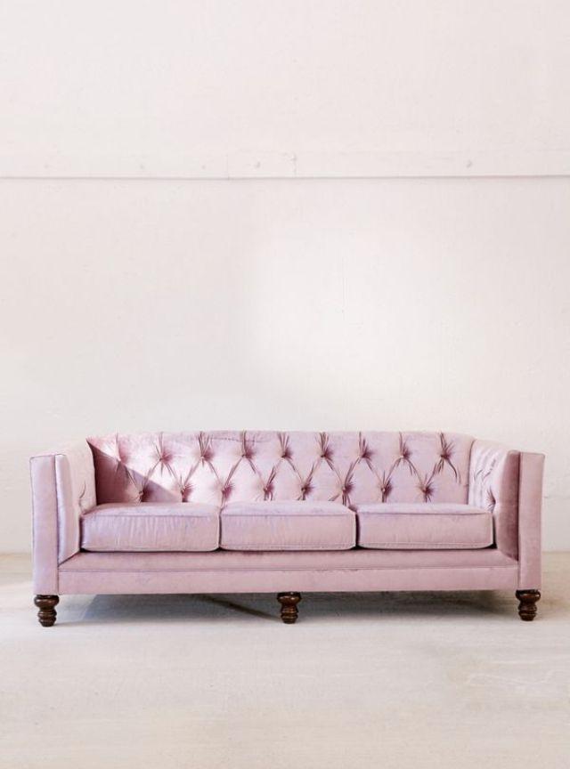 Urban Outfitters Graham Velvet Sofa