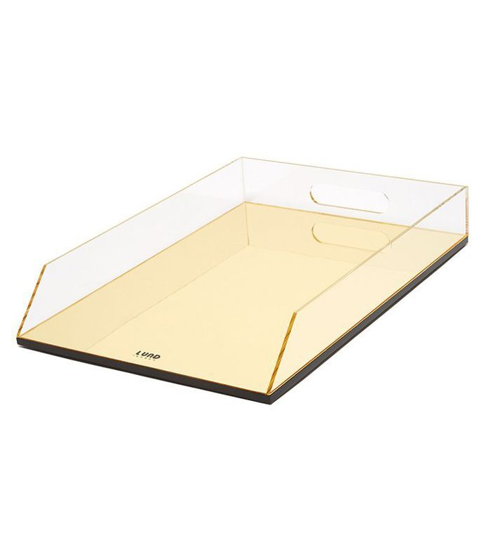 Ban.do Flash Gold Acrylic Stacking Filing Tray
