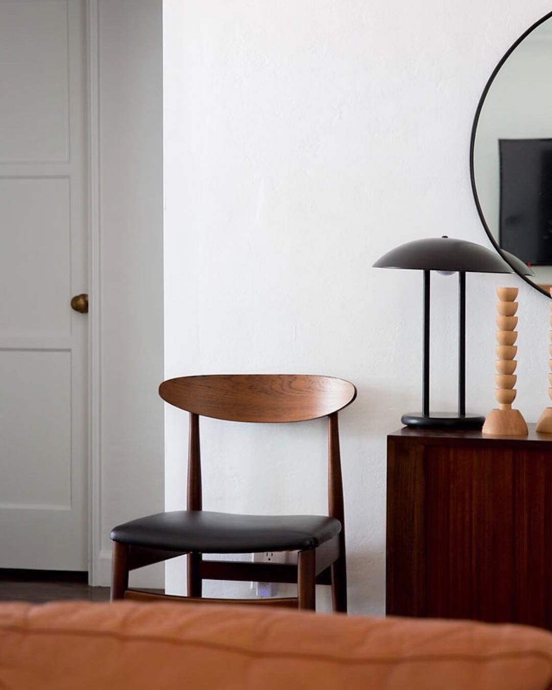 Midcentury chair in a room