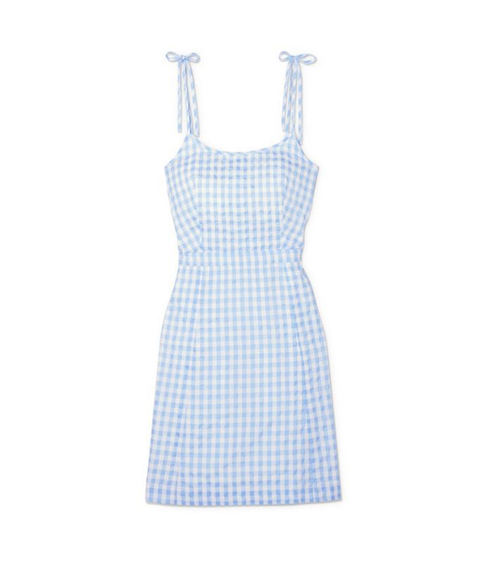 Gingham Cotton-blend Mini Dress