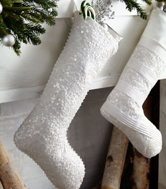 Neiman Marcus Water Sequins Christmas Stocking