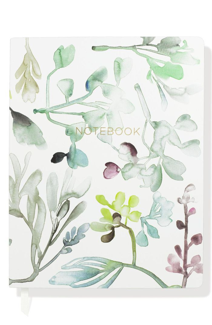 Watercolor Leaves Journal -
