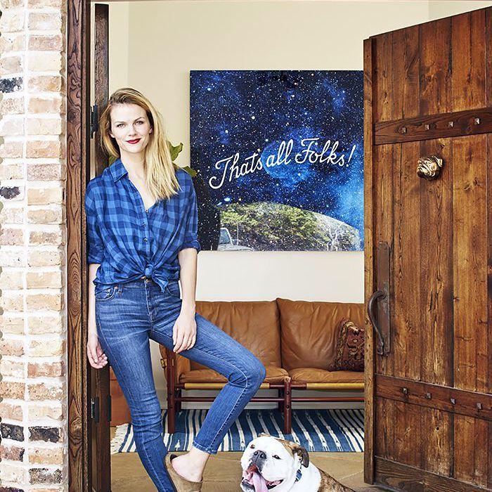 Brooklyn Decker in her Texas home