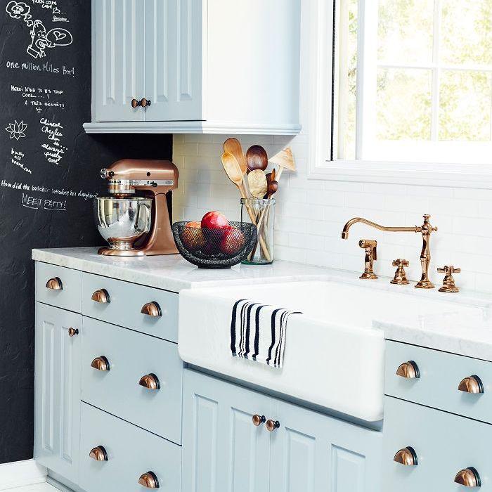 Nina Dobrev L.A. home tour   kitchen sink