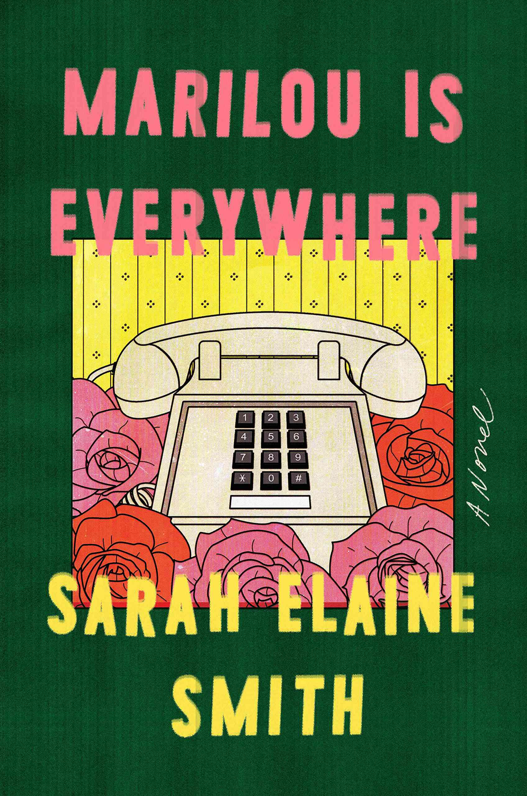 A green book cover, entitled Marilou is Everywhere, by Sarah Elaine Smith.