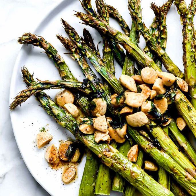 Roasted Asparagus With Browned Butter And Almonds—Easy Asparagus Recipes