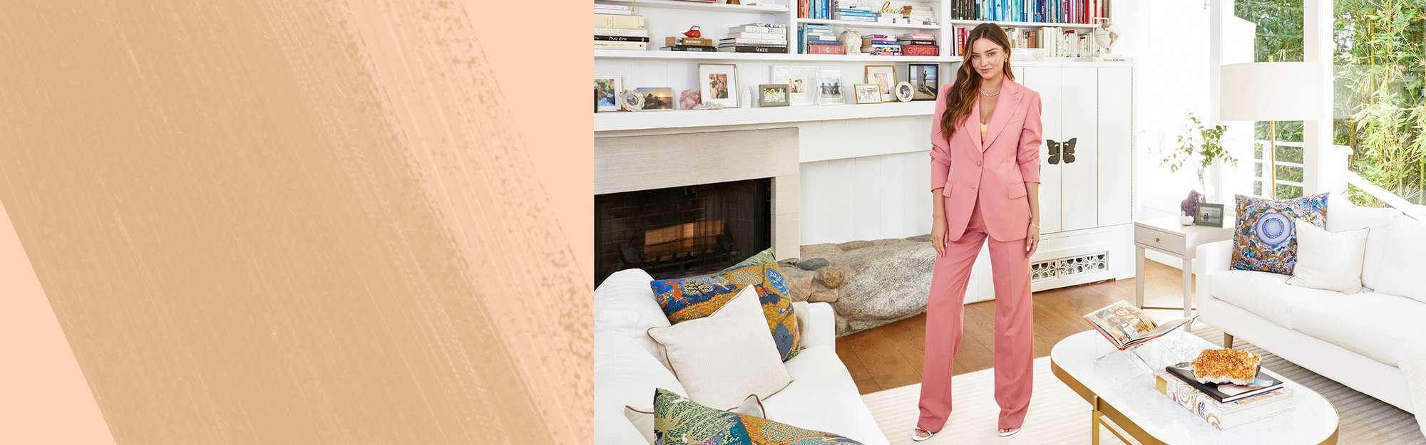 Miranda Kerr in her Malibu living room