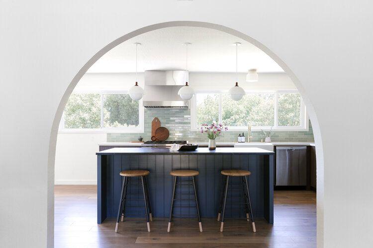 geometric simple kitchen design