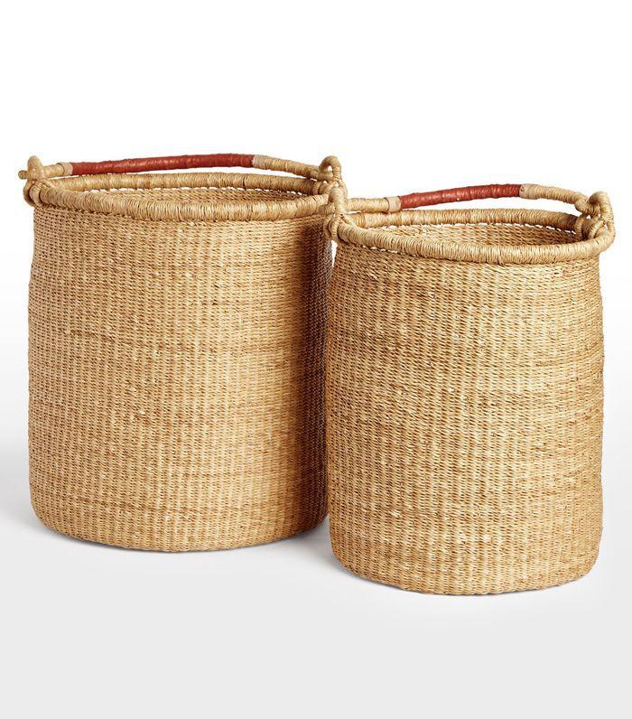 Natural Woven Tall Baskets