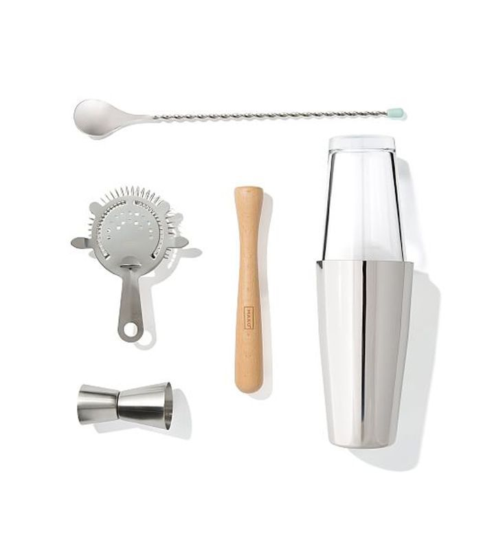West Elm stainless steel bar tools