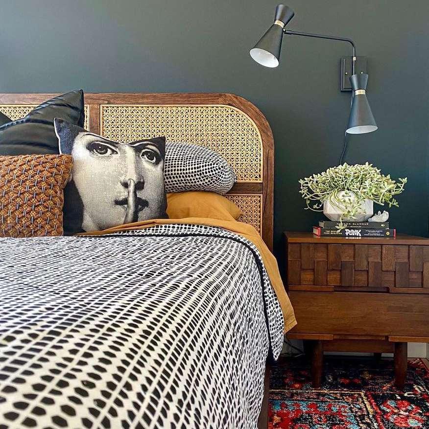 Midcentury blend bedroom