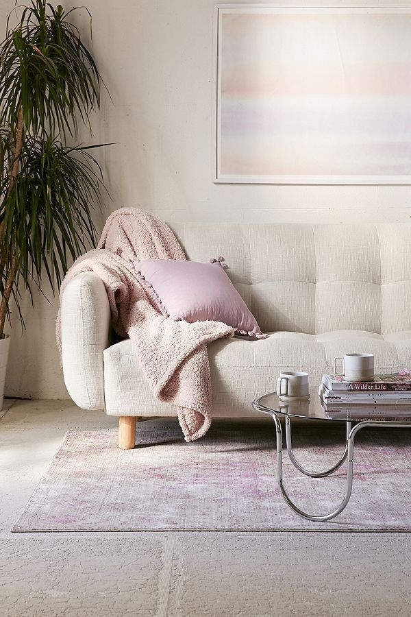 Winslow Sleeper Sofa - Cream One Size at Urban Outfitters