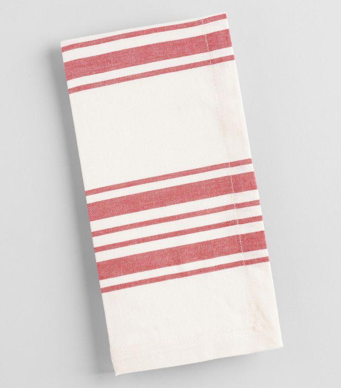 Red Villa Stripe Napkins Set of 4 - Cotton by World Market