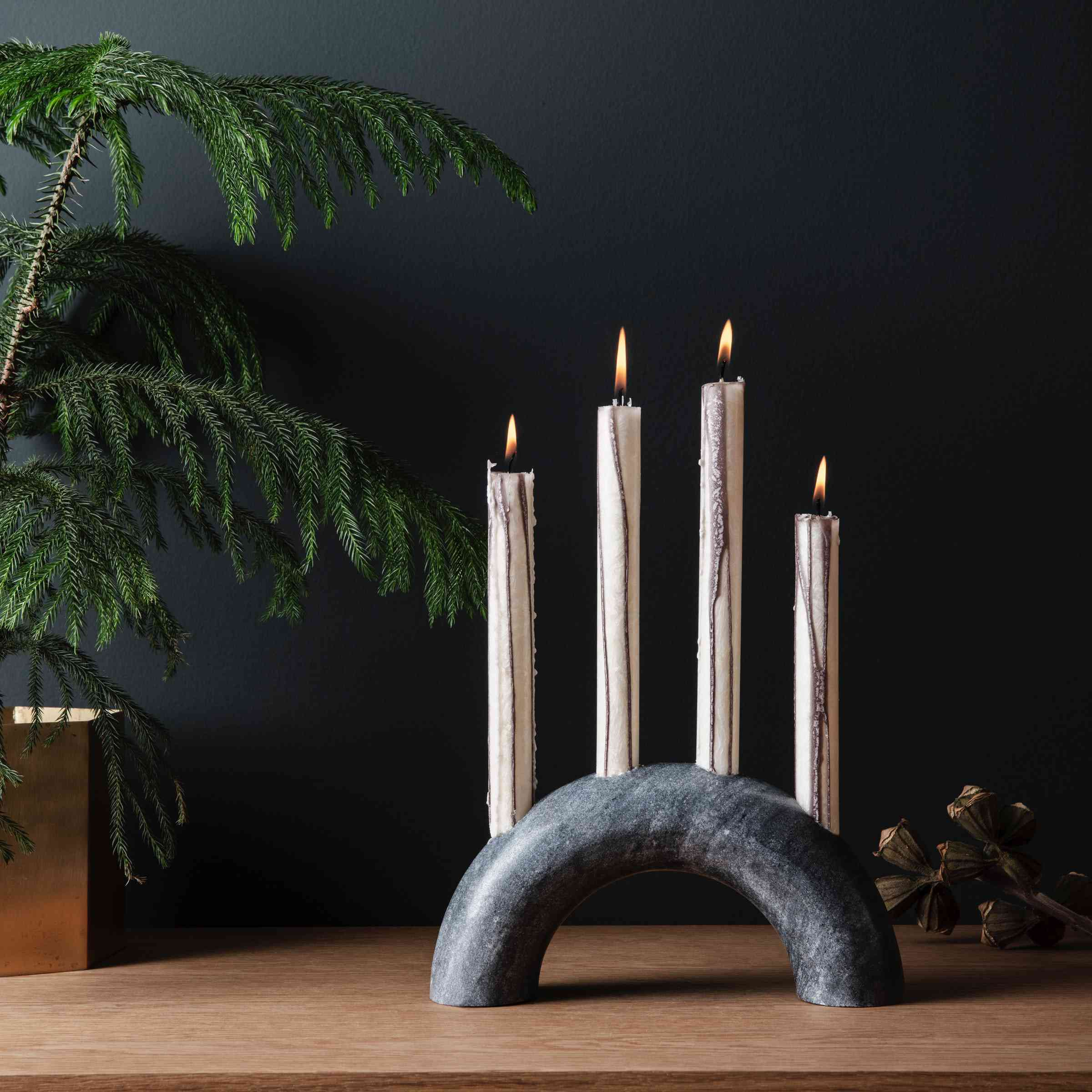 Bow Marble Candle Holder