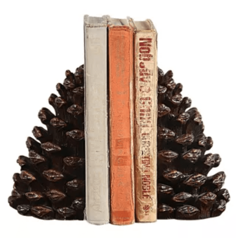Resin pinecone bookends