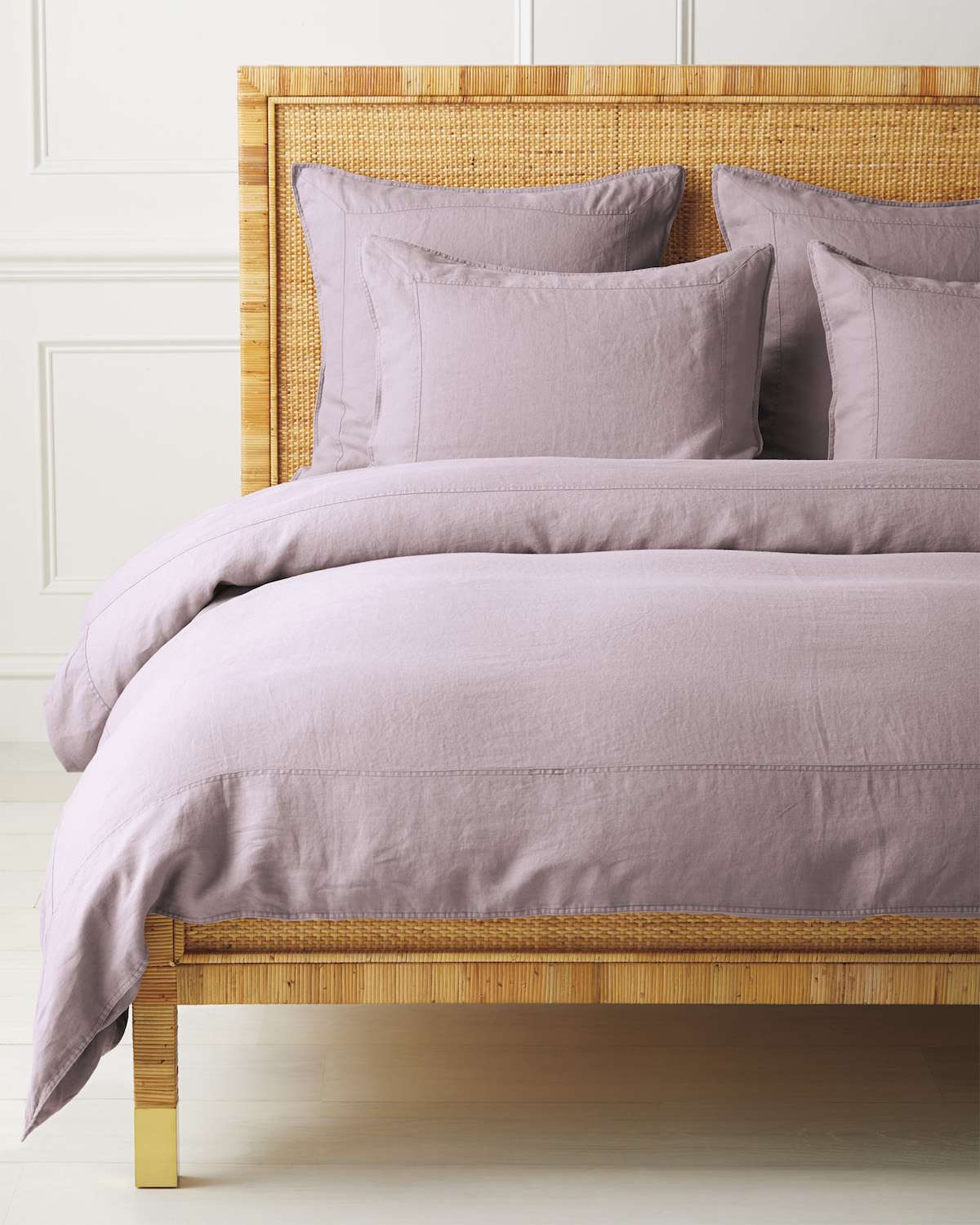 A lavender bedspread, currently for sale at Serena & Lily