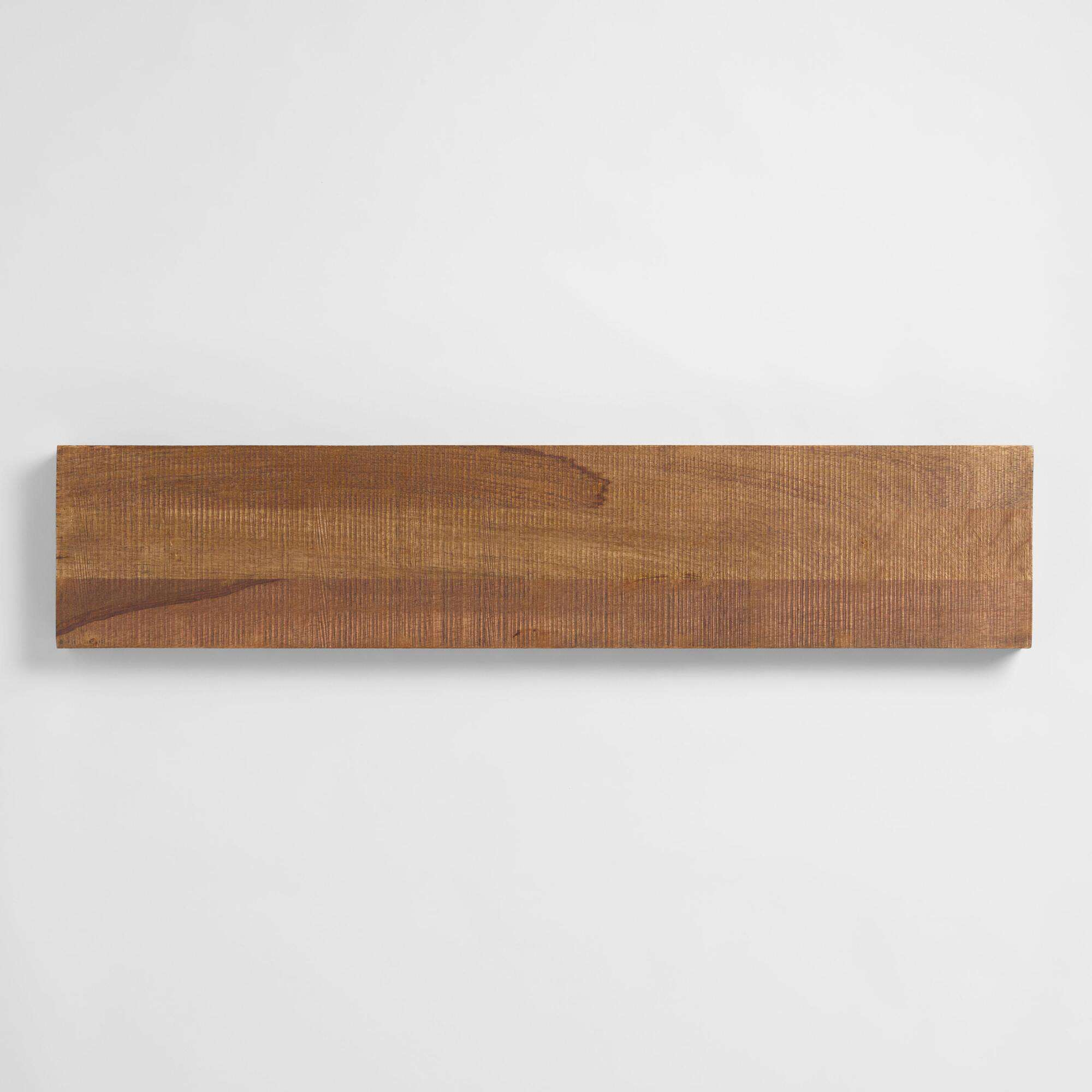 Natural Barn Wood Floating Wall Shelf