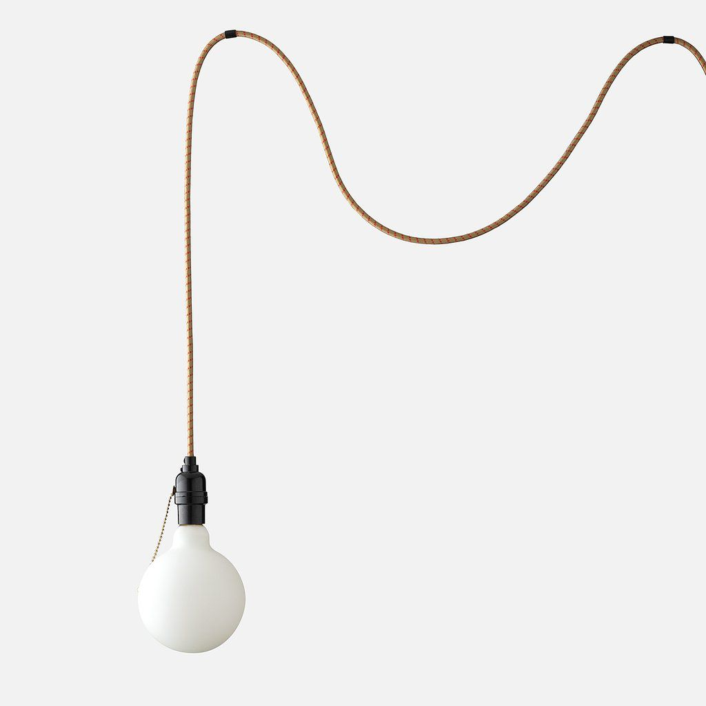 An extra-long industrial pendant light, currently for sale at Schoolhouse