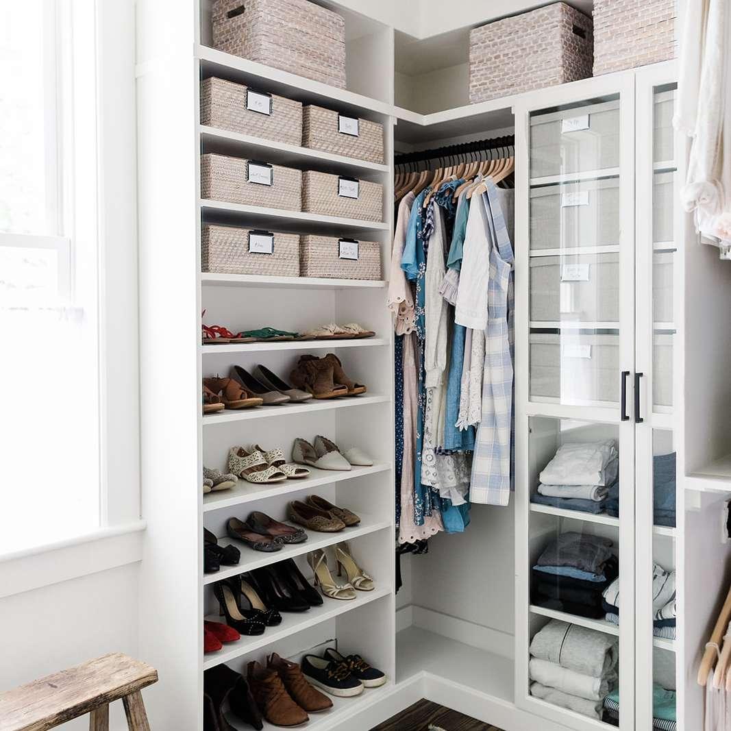 A carefully organized closet