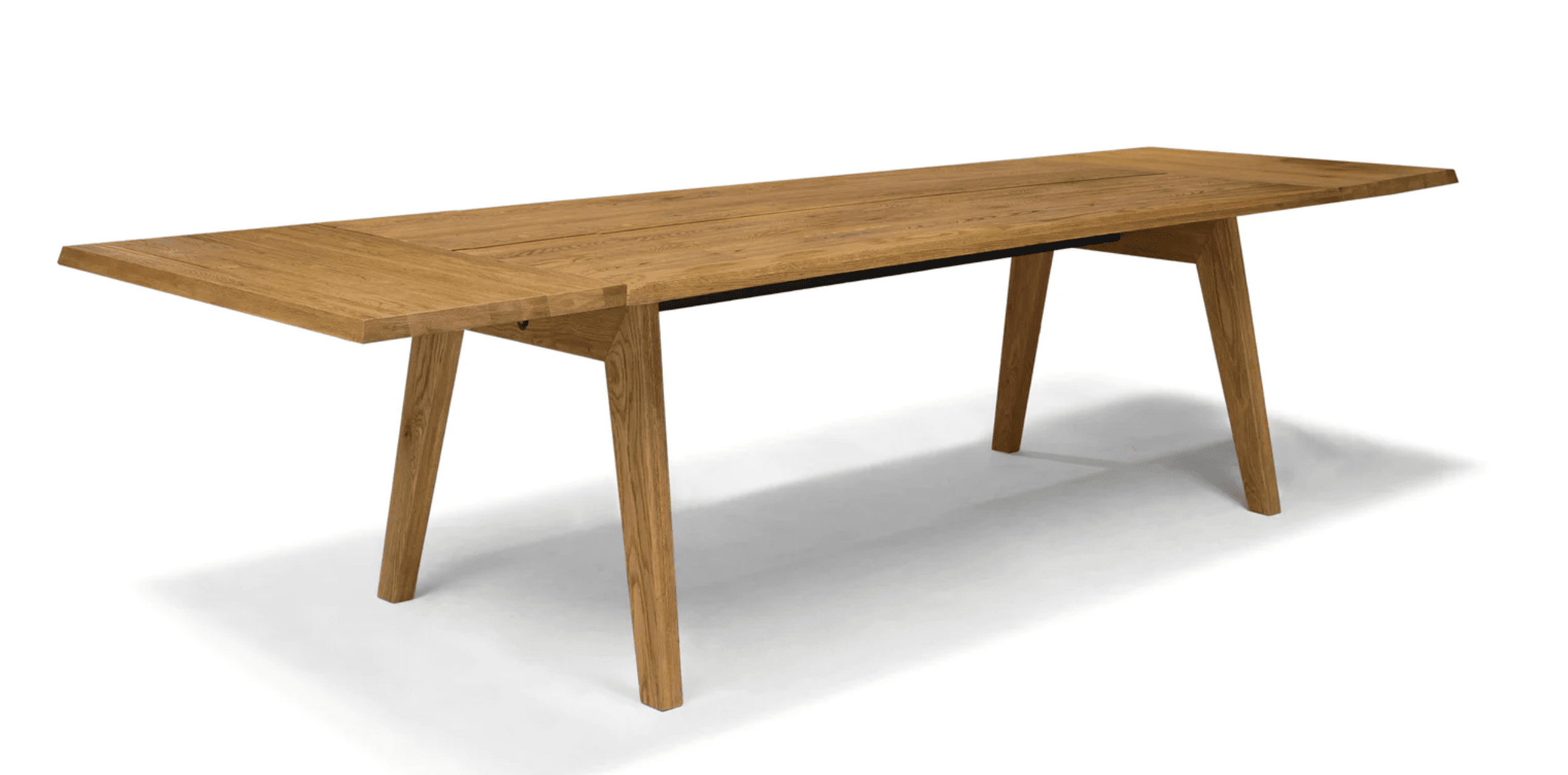 Madera oak dining table, extendable