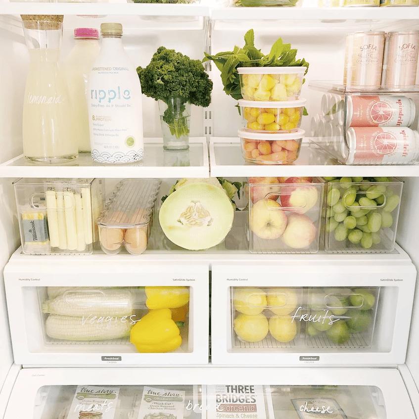 Neat, organized fridge.
