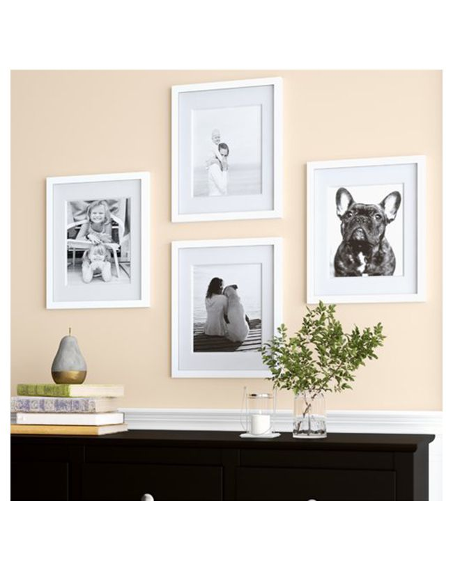 Set of 4 white frames gallery wall
