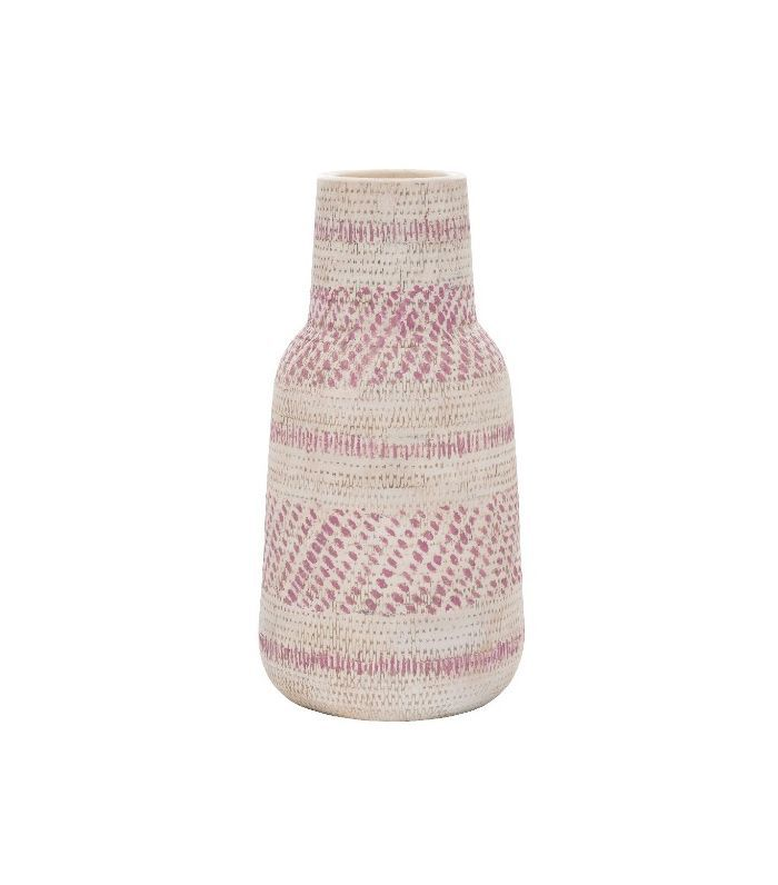 Target Earthenware Cream/Red Vase