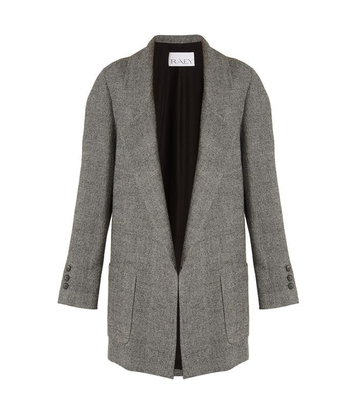 Oversized wool-tweed blazer