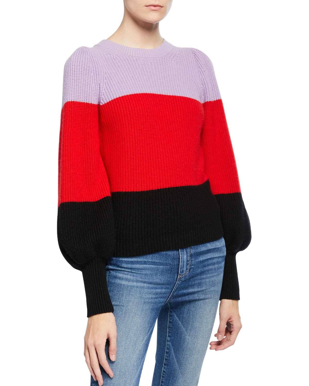 Suéter color block