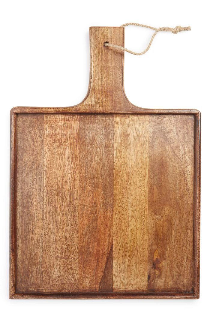 Treasure and Bond Square Mango Wood Serving Board Ideas for 40th birthday