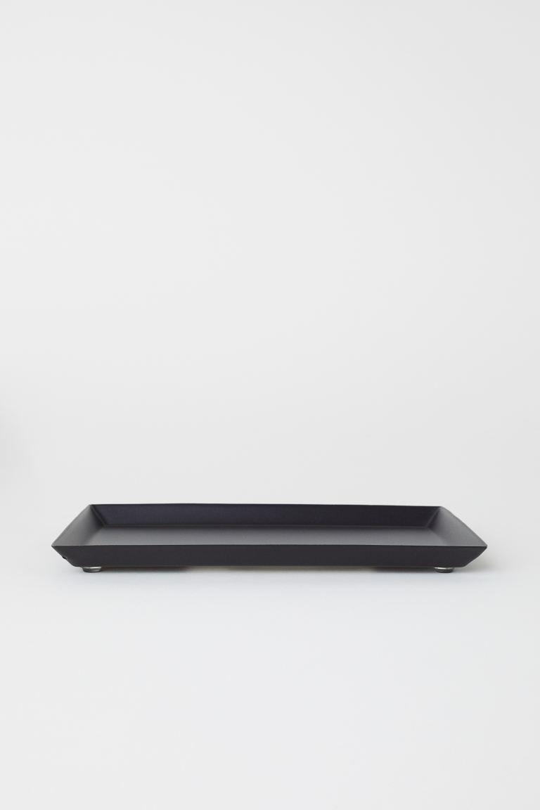 Small metal tray.