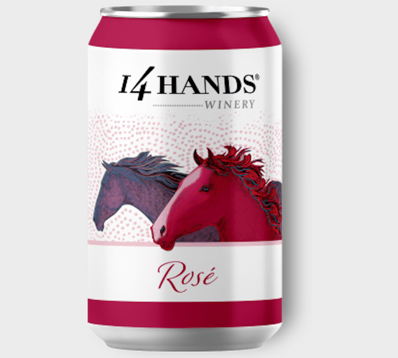 14 Hands Rose in a can