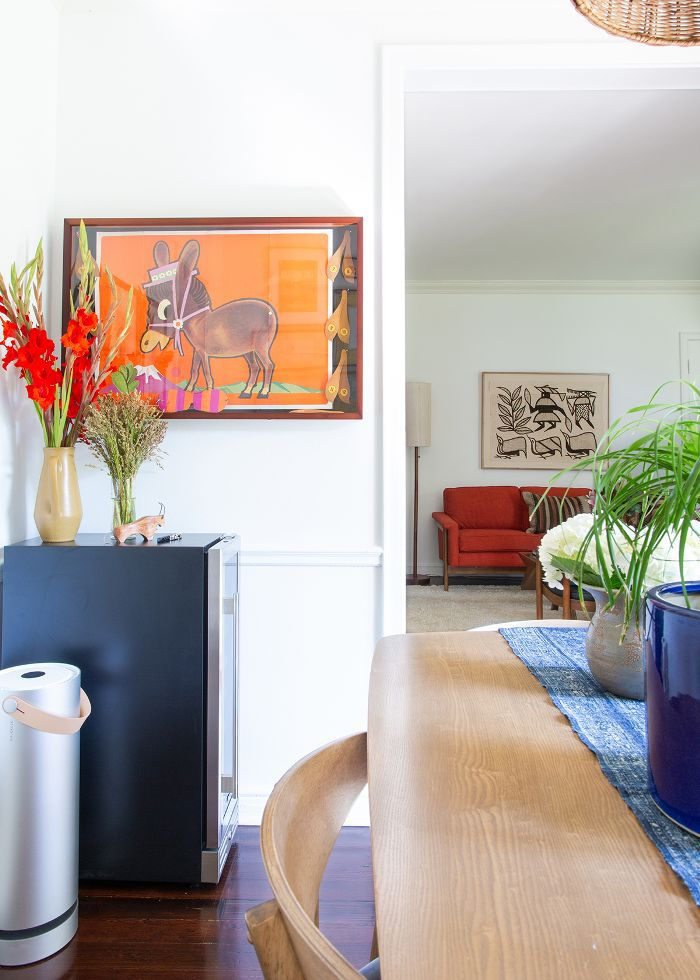 Vintage art in a Los Angeles apartment
