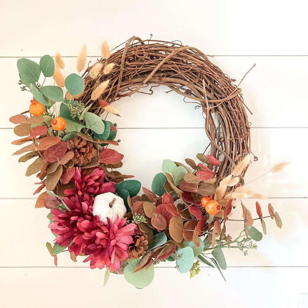 faux fall wreath